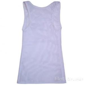 メッシュ製ナベシャツ ロング ホワイト(後