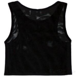 メッシュ製ナベシャツ ブラック(後)