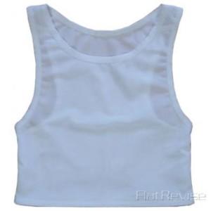 メッシュ製ナベシャツ ホワイト(前)