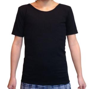 ナベシャツ【マスキュリンTシャツタイプ】ブラック(前)