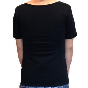 ナベシャツ【マスキュリンTシャツタイプ】ブラック(後)