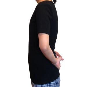 ナベシャツ【マスキュリンTシャツタイプ】ブラック(左)