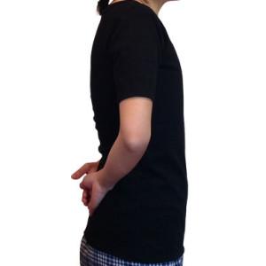 ナベシャツ【マスキュリンTシャツタイプ】ブラック(右)