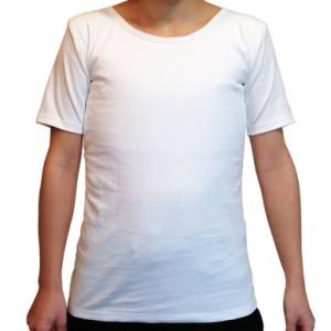 ナベシャツ【マスキュリンTシャツタイプ】ホワイト(前)