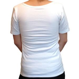 ナベシャツ【マスキュリンTシャツタイプ】ホワイト(後)
