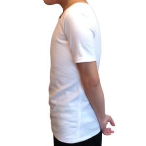 ナベシャツ【マスキュリンTシャツタイプ】ホワイト(左)