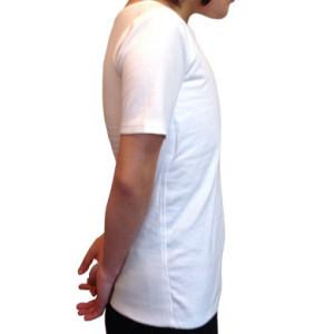 ナベシャツ【マスキュリンTシャツタイプ】ホワイト(右)