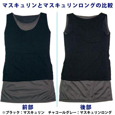ナベシャツ【マスキュリン】とナベシャツ【マスキュリンロング】の比較