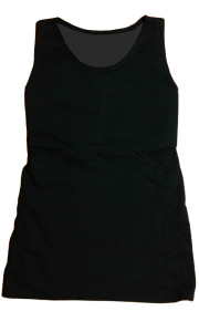 ナベシャツ【マスキュリンロングVer.2】ブラック 前